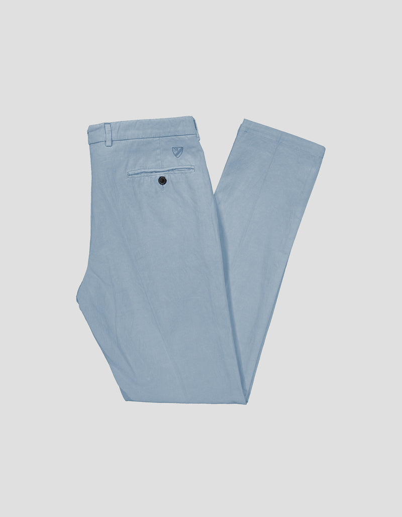 CANNES GARMENT DYED COTTON LINEN SLUB PANTS