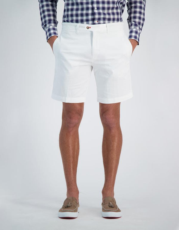 CANNES GARMENT DYED COTTON LINEN SHORTS