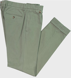 STRETCH COTTON SINGLE PLEAT BOAT CHINO