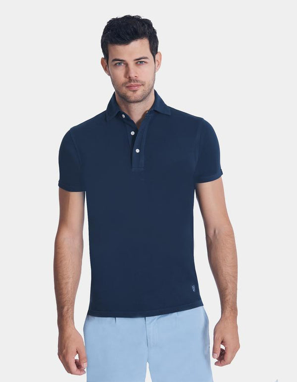 SUPIMA COTTON PIQUE GARMENT DYE POLO