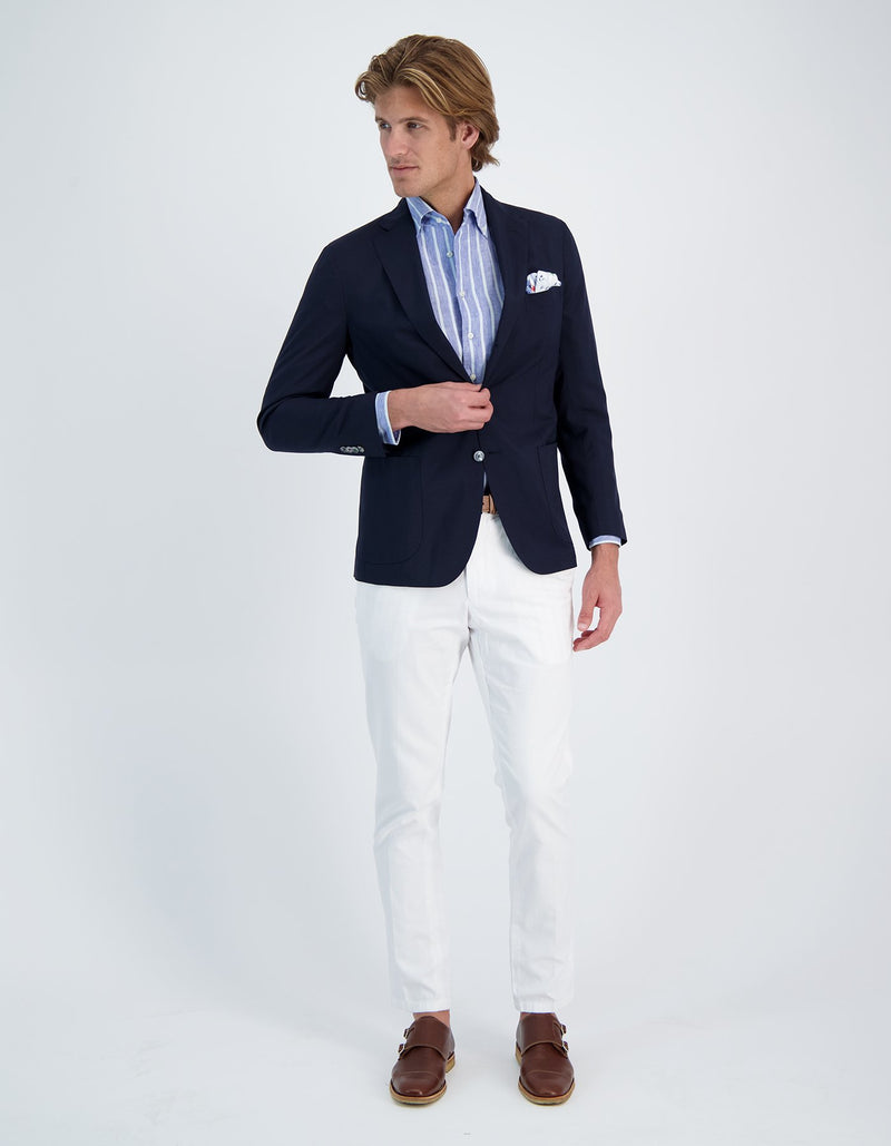FREETIME TRAVEL WOOL KNIT JERSEY BLAZER