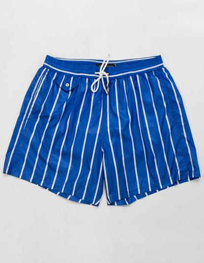 BOND PINSTRIPES PRINT SWIM SHORTS