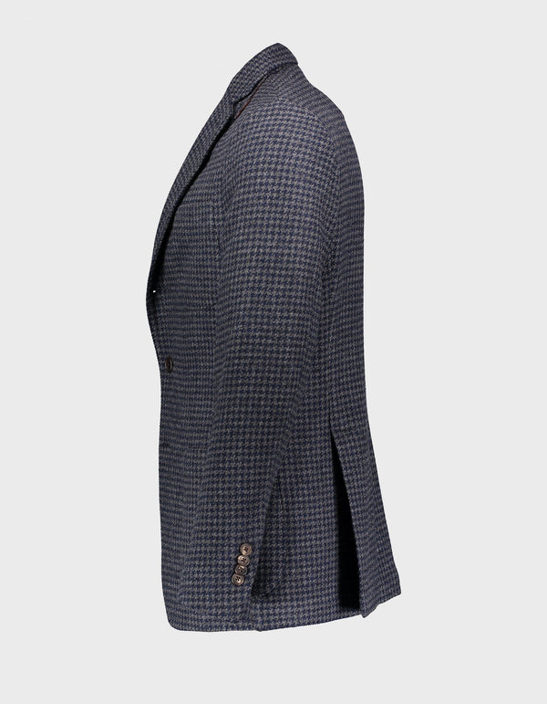 FREETIME MARLING & EVANS HOUNDSTOOTH TWEED WOOL BLAZER