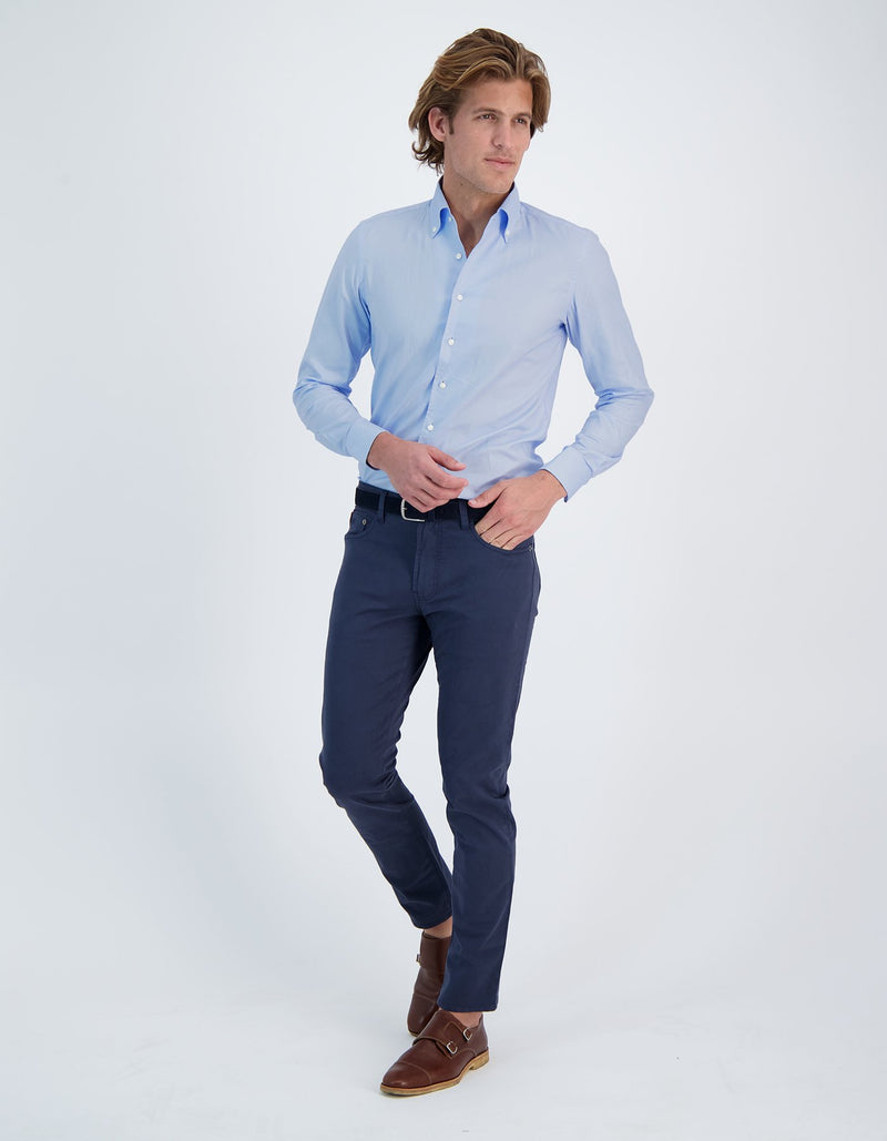 DOM CHEMISE OXFORD PINPOINT COL UNE PIÈCE
