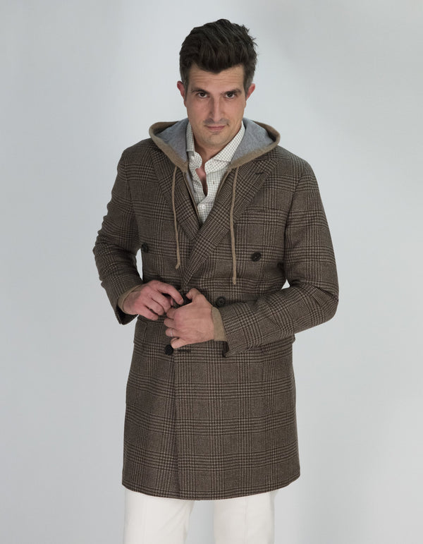 MANTEAU BRERA À CARREAUX