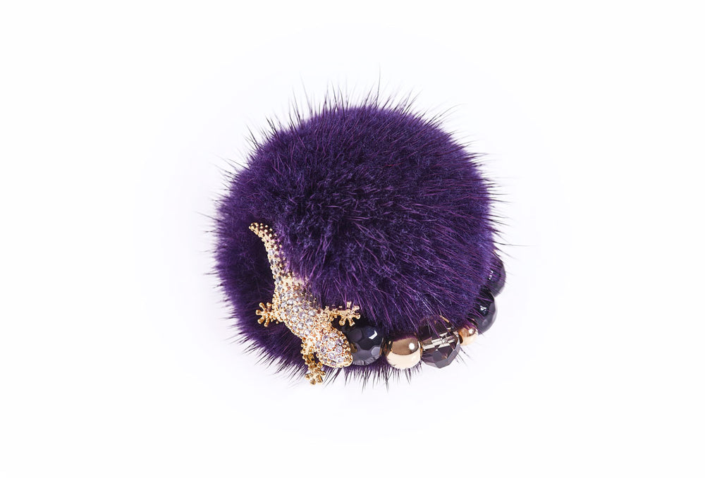 Deep Purple Mink Ring