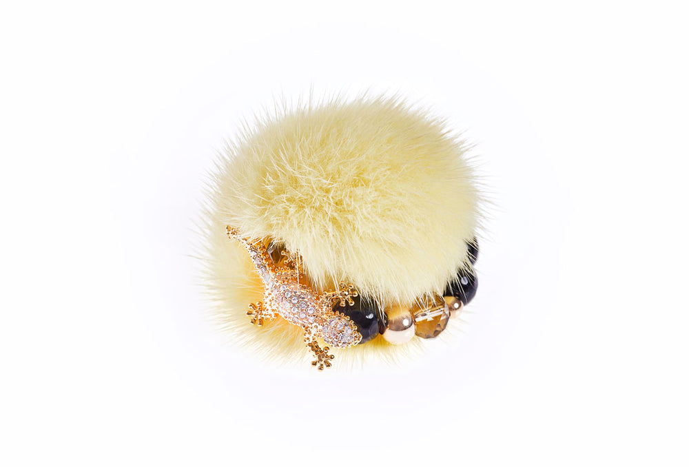 Dusty Yellow Mink Ring