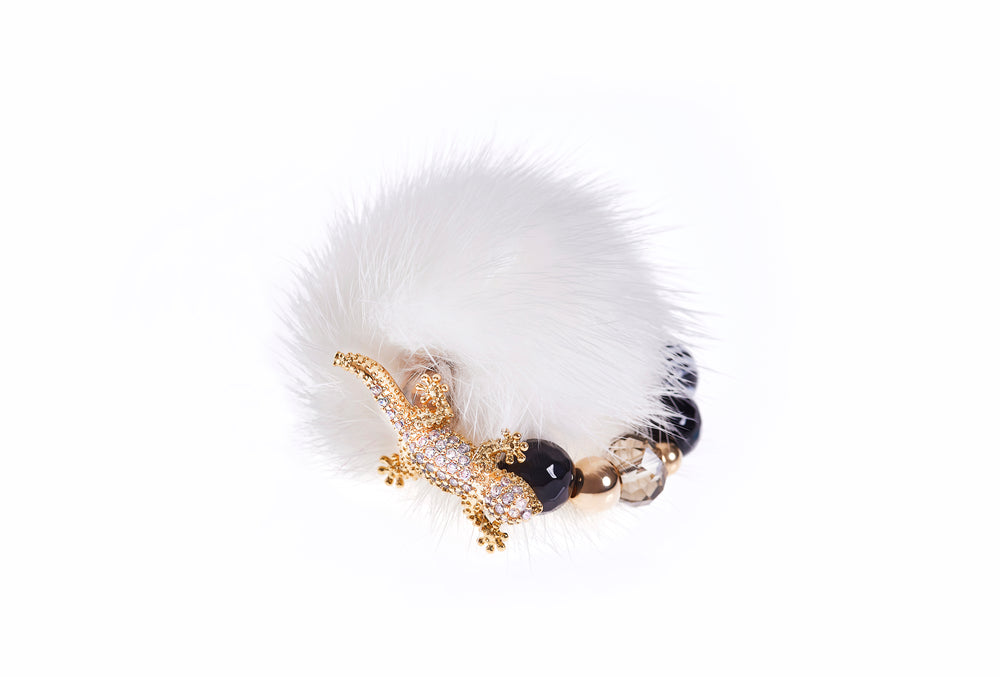 White Mink Ring
