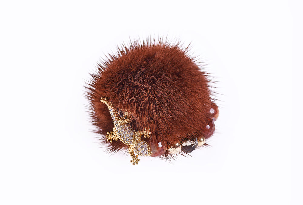 Fox Brown Mink Ring