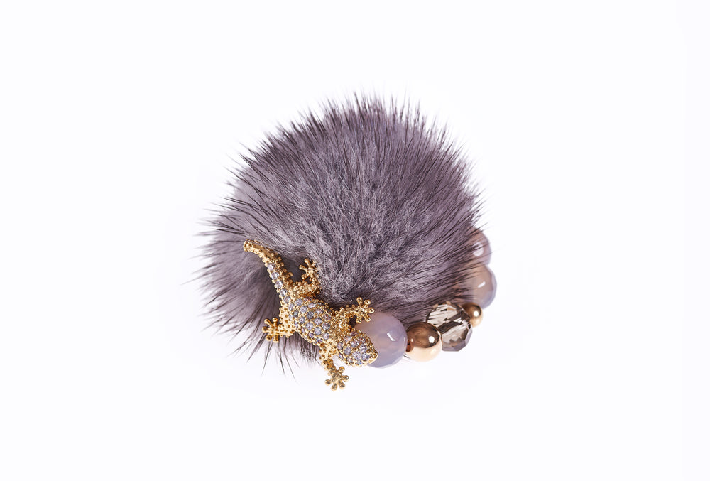 Dark Grey Mink Ring