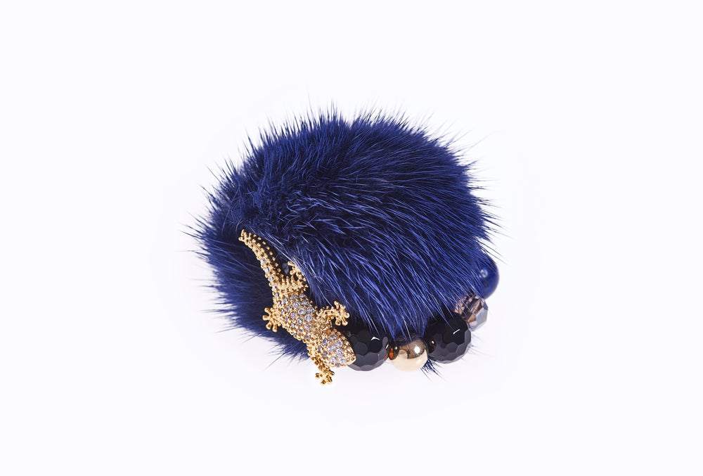 Midnight Blue Mink Ring