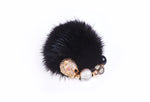 Elisabeth Signature Black Mink Ring