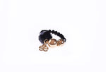 Elisabeth Signature Gold 'N' Black Crystal Ring