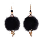 Elisabeth Signature Black Mink Earrings