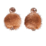 Sand Storm Crystal Mink Earrings