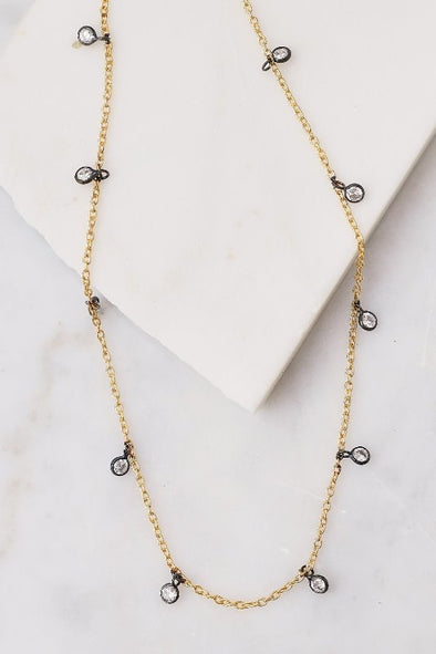 Natalie B Dea Mixed Metal Drop Choker