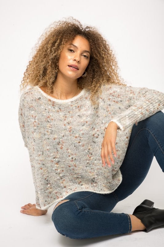 Mystree Popcorn Pullover Sweater