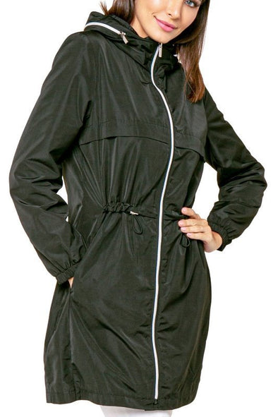 Love Token Alexander Hooded Long Anorak Jacket Windbreaker