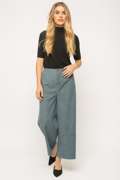 Mystree Suede Wide Leg Pants
