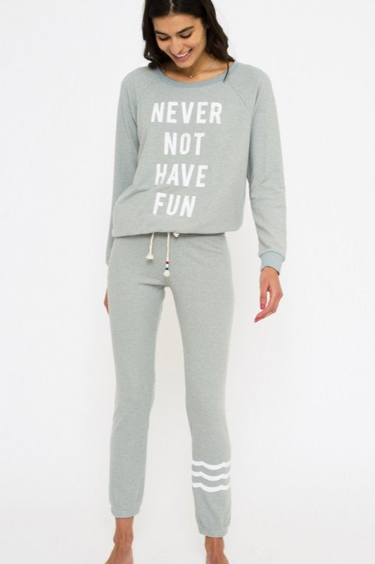 Sol Angeles Never not Have Fun Hacci Pullover