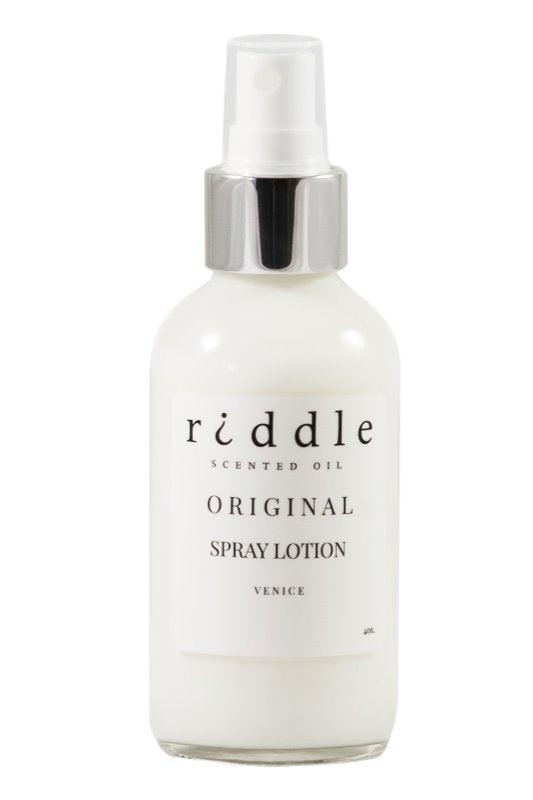 Riddle Scented Spray Lotion: Original 4oz.