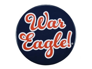 "Navy 3"" War Eagle Button"