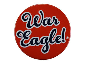 "Orange 3"" War Eagle Button"