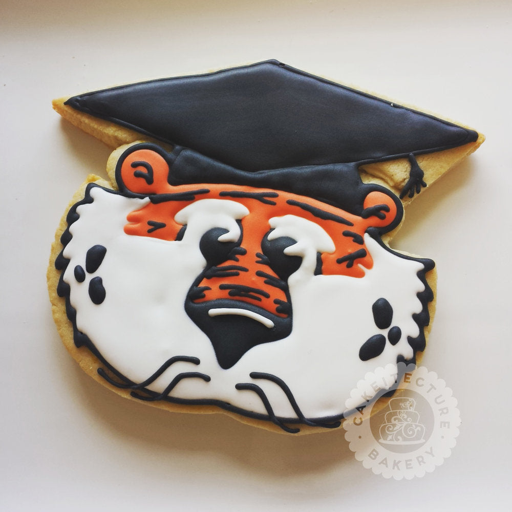 Aubie Graduation Cookies
