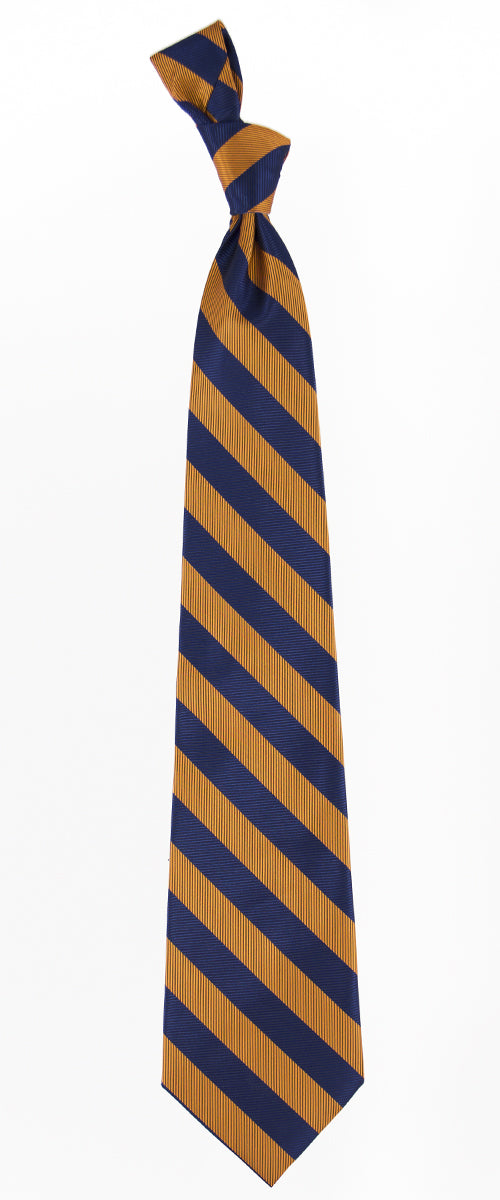 Navy and Orange Striped Tie