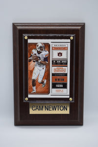 Cam Newton Plaque