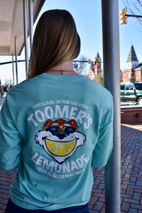 Comfort Color Smile Chalky Mint Long Sleeve