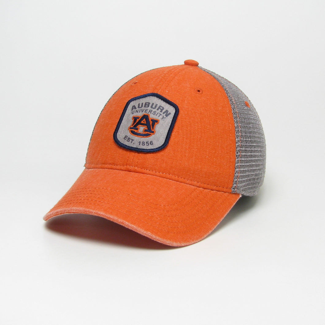 Bright orange Auburn patch hat