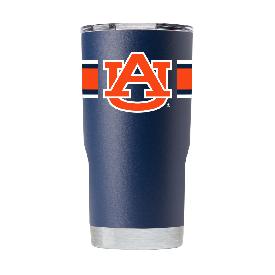 20 oz Auburn NAVY TUMBLER W/STRIPES