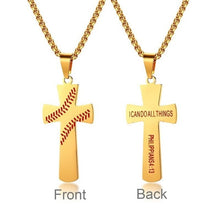 Load image into Gallery viewer, Baseball Necklace for Christians - Christian Jewelry for men