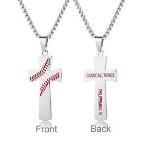 Baseball Necklace for Christians - Christian Jewelry for men