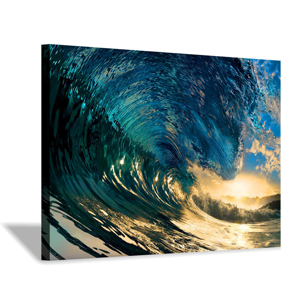 Ocean Waves Splash Picture Wall Artwork Painting on Canvas for Living Room