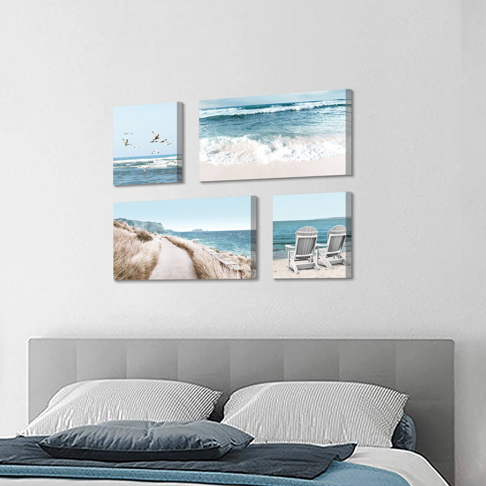 Seaside Scene Wall Art Picture on Canvas for Living Room