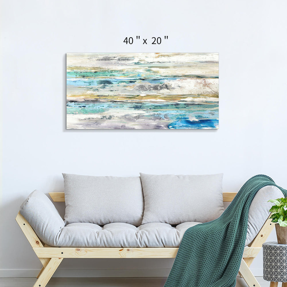Abstract Sea and Sky Horizon Wall Artwork Painting on Canvas for Living Room