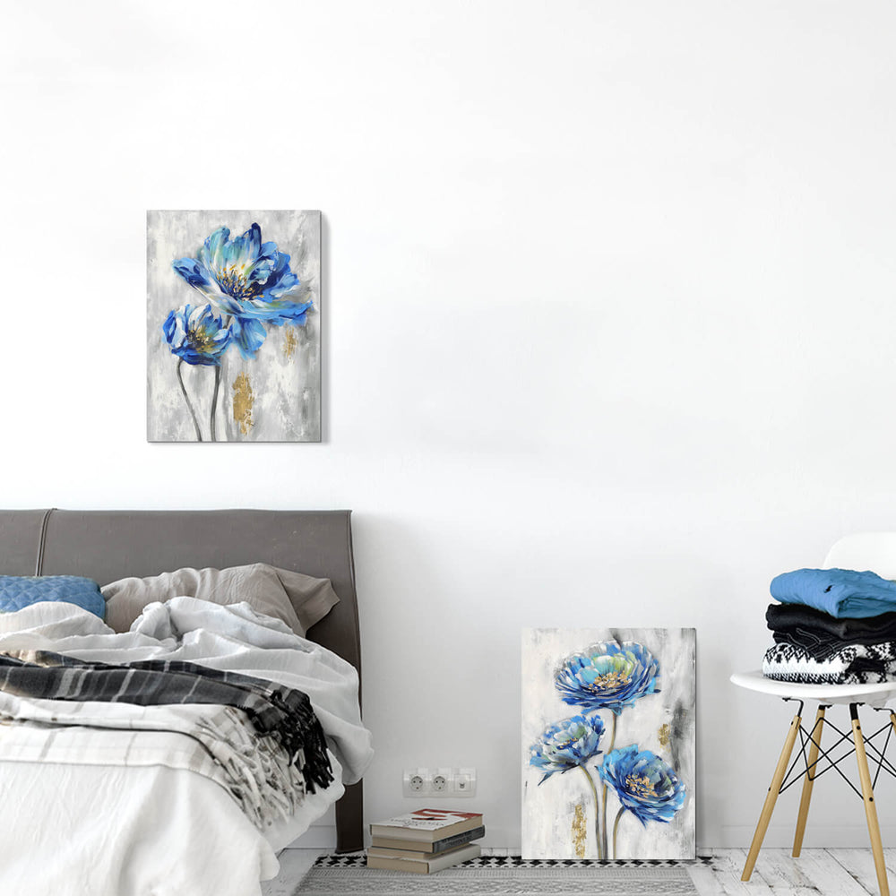 Abstract Flower Canvas Wall Artwork Picture Painting on Canvas for Rooms Decoration