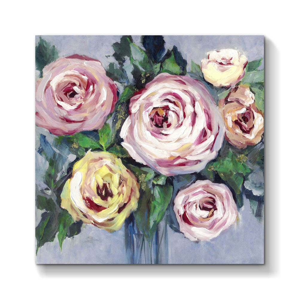 Abstract Rose Picture Wall Artwork Painting on Canvas for Rooms Decor