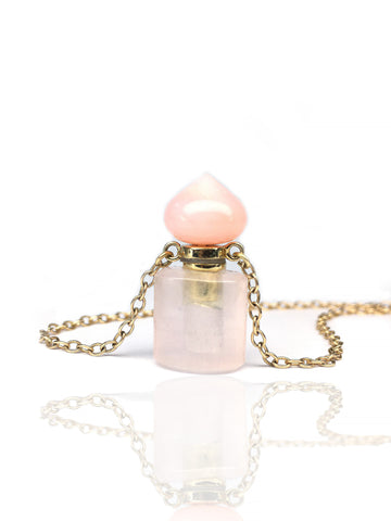 Parfume / Ashes bottle rosequartz