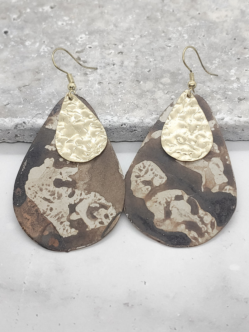 DISTRESSED DETAIL EARRINGS