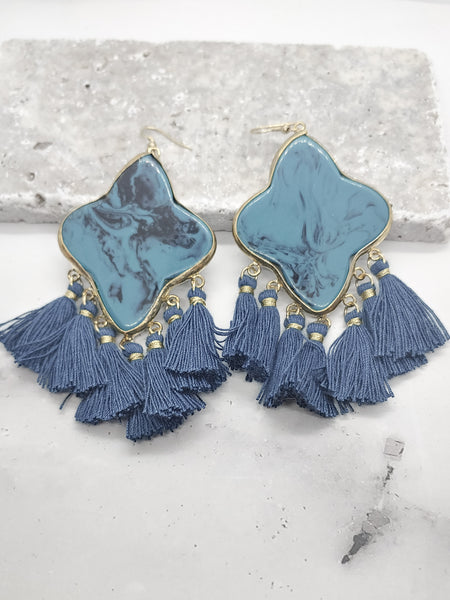 DANGLE DROP TURQUOISE EARRINGS
