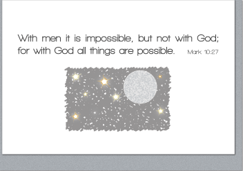 All Things Are Possible Note Cards (4 Individual Note Cards) - Vendor