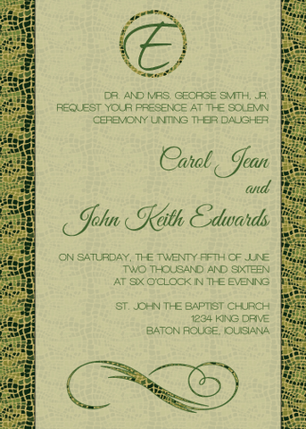 Alligator Print Invitation
