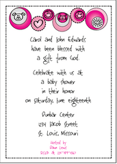 Petite Prints - Pink Baby Announcement