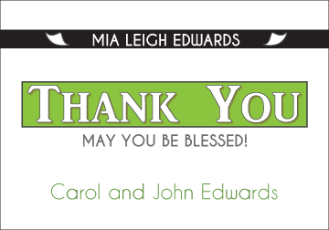 Exclusive News - Green Thank You Card