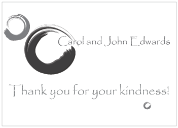 Black Circles Thank You Card