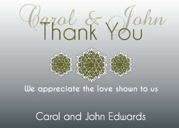 Black Gradient Thank You Card