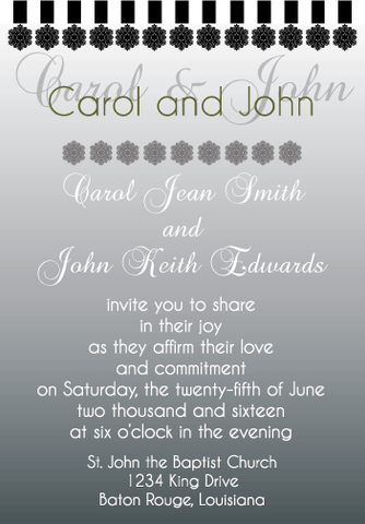 Black Gradient Invitation
